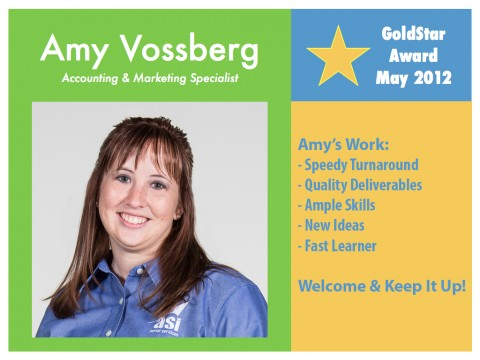 Amy Vossberg- GoldStar Award