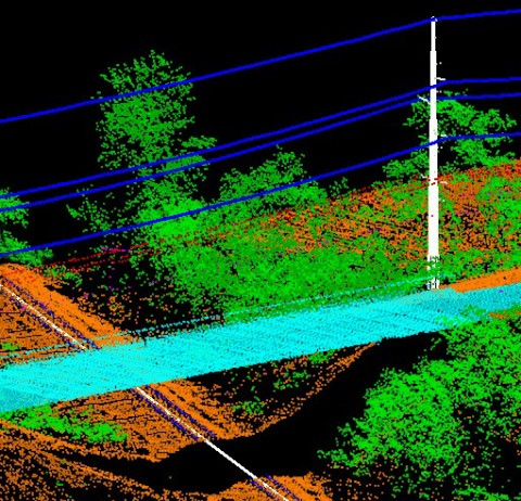 LiDAR Road Rail Bridge Powerline