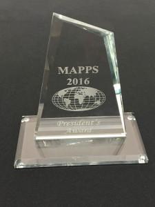 MAPPS President's Award 2016