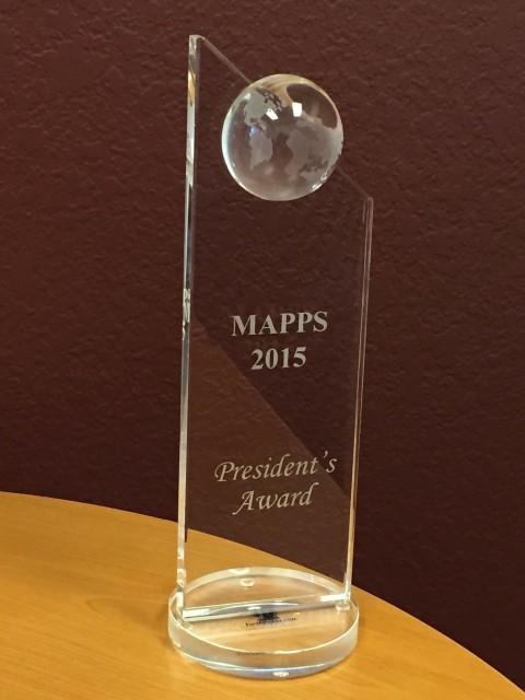 MAPPS 2015 Award