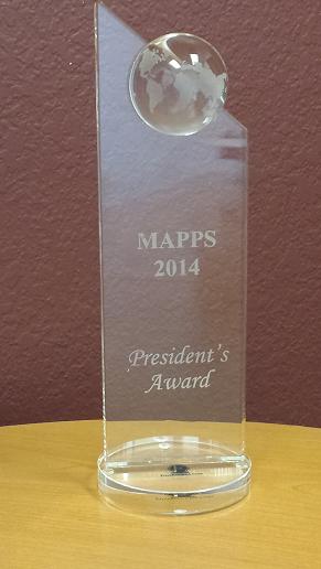 MAPPS 2014 President Award