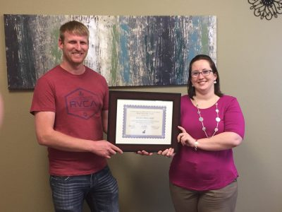Above & Beyond Award – 1st Quarter of 2016!